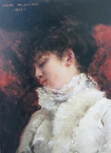 Zelfportret als La Dormeuse - Sarah Bernhardt