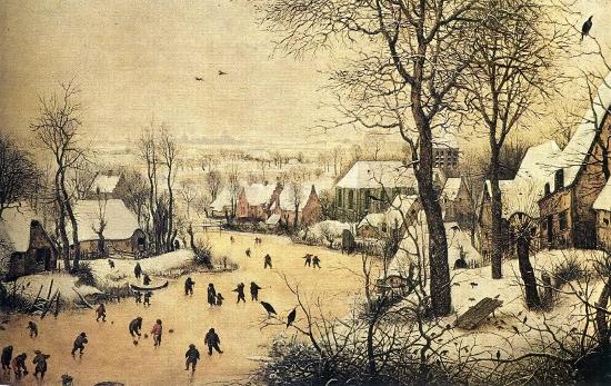 Winterlandschap - Pieter Brueghel de Oude, 1565