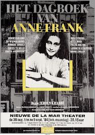 Het dagboek van Anne Frank, affiche toneelstuk