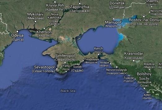 De Krim en Sotsji in een beeld