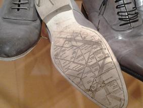 De zool van de schoen van Jan Siebelink