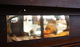 Das bin ich wirklich, böse, besoffen, aber gescheit. Hier schreef JOSEPH ROTH In ballingschap in Amsterdam, 1 1936