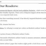 Wij lezers doen er schijnbaar toe (voor Amazon en 909 schrijvers)