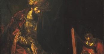 David speelt harp voor Saul - Rembrandt