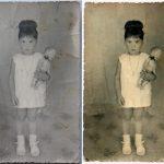 Een meisje met een pop