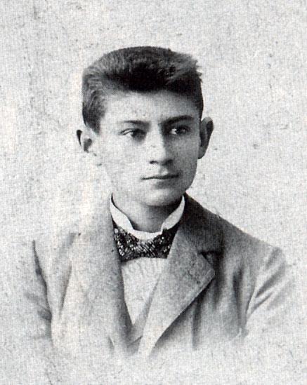 Franz Kafka, een jaar voordat hij de zomervakantie op Norderney doorbracht