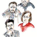 Joost Baars, Anne Vegter en Dean Bowen lezen Mohammed Chacha, Fadma el Ouariachi en Mimoun el Walid