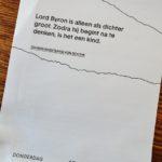 Wat Johann Wolfgang von Goethe van Lord Byron vond (v.v.)