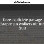 Jan Wolkers kuiste Turks fruit. Onno Blom weet wel/niet waarom.