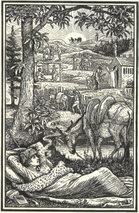 Robert Louis Stevenson in zijn slaapzak