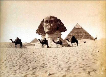Sphinx en piramides - Maxime du Camp, 1849