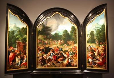 Rijksmuseum De dans om het gouden kalf - Lucas van Leyden (400x274)