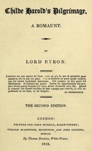 Child Harold's Pilgrimage - Lord Byron