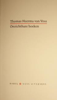Onzichtbare boeken - Thomas Heerma van Voss